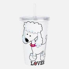 poodle lover.png Acrylic Double-wall Tumbler