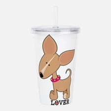 chihuahua lover.png Acrylic Double-wall Tumbler