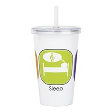 eat_sleep_karaoke.jpg Acrylic Double-wall Tumbler