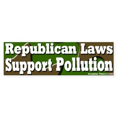 Republican Pollution Bumper Bumper Sticker