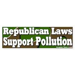 Republican Pollution Bumper Bumper Sticker