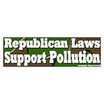 Republican Pollution Bumper Sticker
