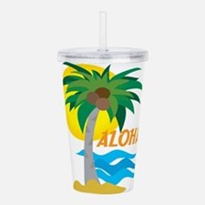 palm tree 1 cp.png Acrylic Double-wall Tumbler