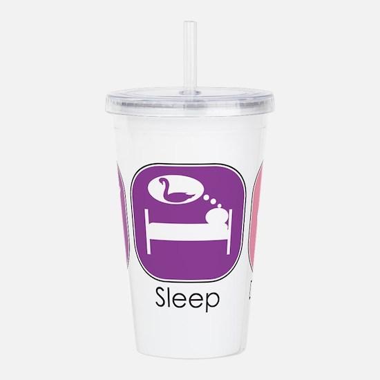 Eat Sleep Dance Acrylic Double-wall Tumbler