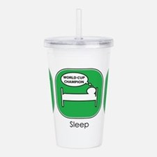 eat_sleep_soccer.jpg Acrylic Double-wall Tumbler