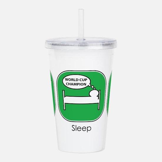 eat_sleep_soccer.jpg Acrylic Double-wall Tumbler