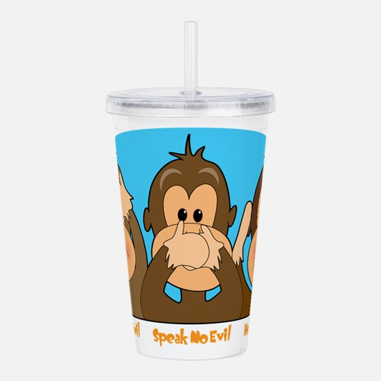 monkey see speak hear2.png Acrylic Double-wall Tum