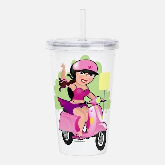 Dainty Scooter Girl Acrylic Double-wall Tumbler