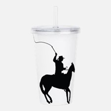 Horseman with Whip Acrylic Double-wall Tumbler