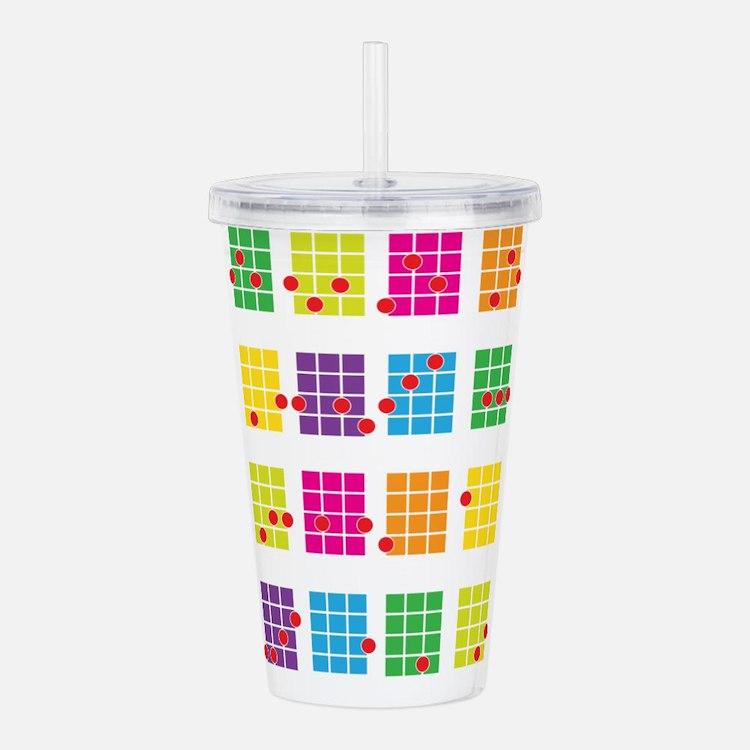 Uke Chords Colourful Acrylic Double-wall Tumbler