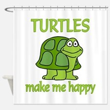 Turtle Happy Shower Curtain
