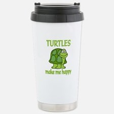 Turtle Happy Stainless Steel Travel Mug