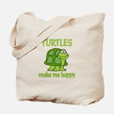 Turtle Happy Tote Bag