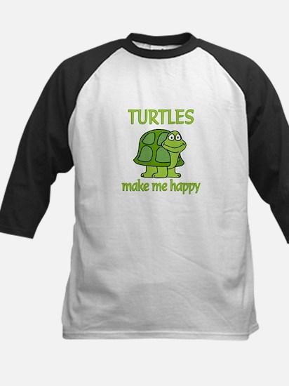 Turtle Happy Kids Baseball Jersey