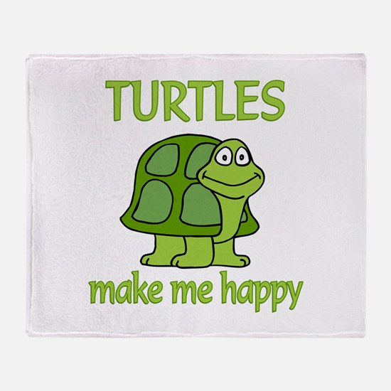 Turtle Happy Throw Blanket