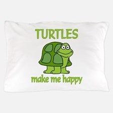 Turtle Happy Pillow Case
