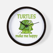 Turtle Happy Wall Clock