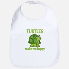 Turtle Happy Bib
