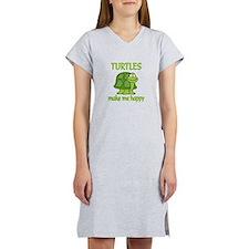 Turtle Happy Women's Nightshirt