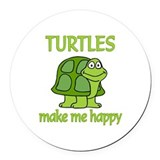 Turtles Round Car Magnets