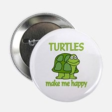"""Turtle Happy 2.25"""" Button (10 pack)"""