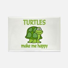 Turtle Happy Rectangle Magnet (10 pack)
