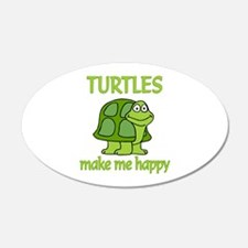 Turtle Happy Wall Decal