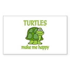Turtle Happy Decal