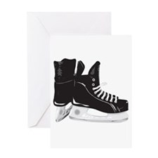 Hockey Skates Greeting Cards