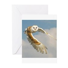 wings of the owl Greeting Cards