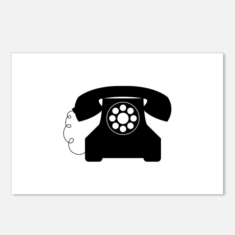 Old Style Telephone Postcards (Package of 8)