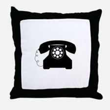Old Style Telephone Throw Pillow