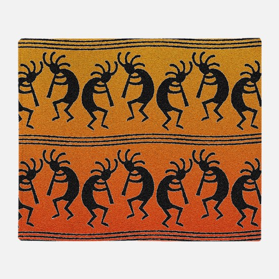 Cute Kokopelli Throw Blanket