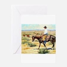 Cowboy Painting Greeting Cards