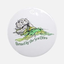 Carmel Sea Otter Round Ornament