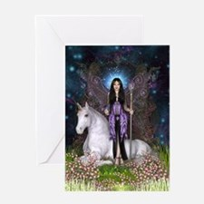 Amethyst Fairy and Unicorn Greeting Cards
