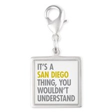 Its A San Diego Thing Silver Square Charm