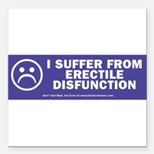 "Rude Square Car Magnet 3"" x 3"""