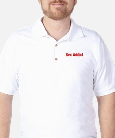 Sex Addict Golf Shirt