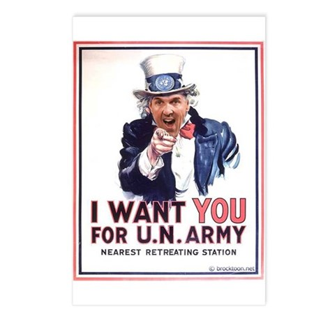 Kerry wants you for UN Postcards (Package of 8)