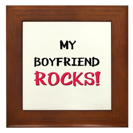 My BOYFRIEND ROCKS! Framed Tile