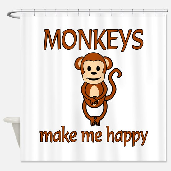 Monkey Happy Shower Curtain