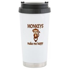 Monkey Happy Stainless Steel Travel Mug