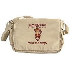 Monkey Happy Messenger Bag