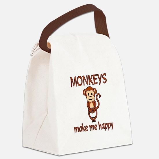 Monkey Happy Canvas Lunch Bag