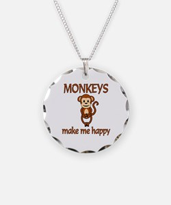 Monkey Happy Necklace