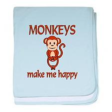 Monkey Happy baby blanket