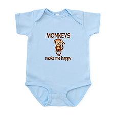 Monkey Happy Infant Bodysuit