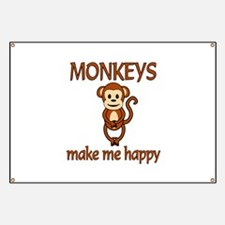 Monkey Happy Banner