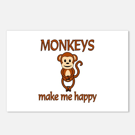 Monkey Happy Postcards (Package of 8)